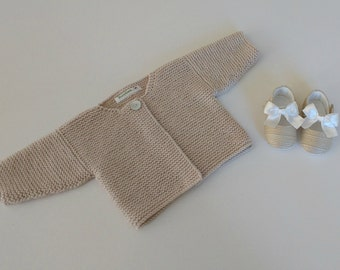 Knitting Pattern for Simple Baby Cardigan
