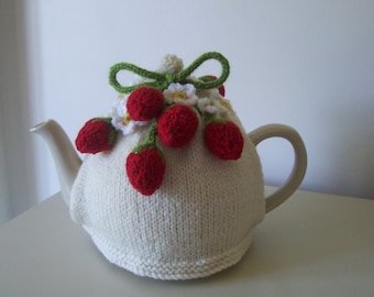 Knitting Pattern for Strawberry Fields Tea Cosy Knitting Pattern