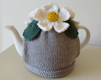 Knitting Pattern for Daisies Tea Cosy