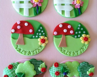Lalaloopsy inspired cupcake toppers