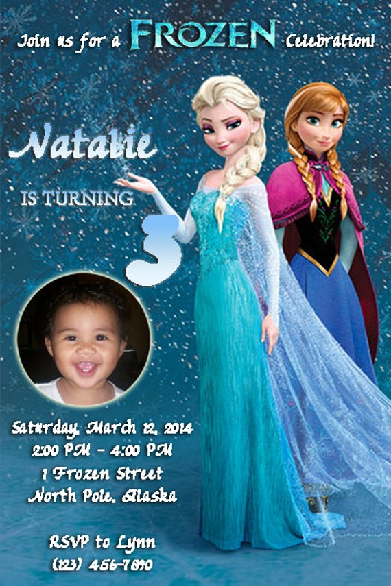 Frozen Invitation Birthday Party Disney