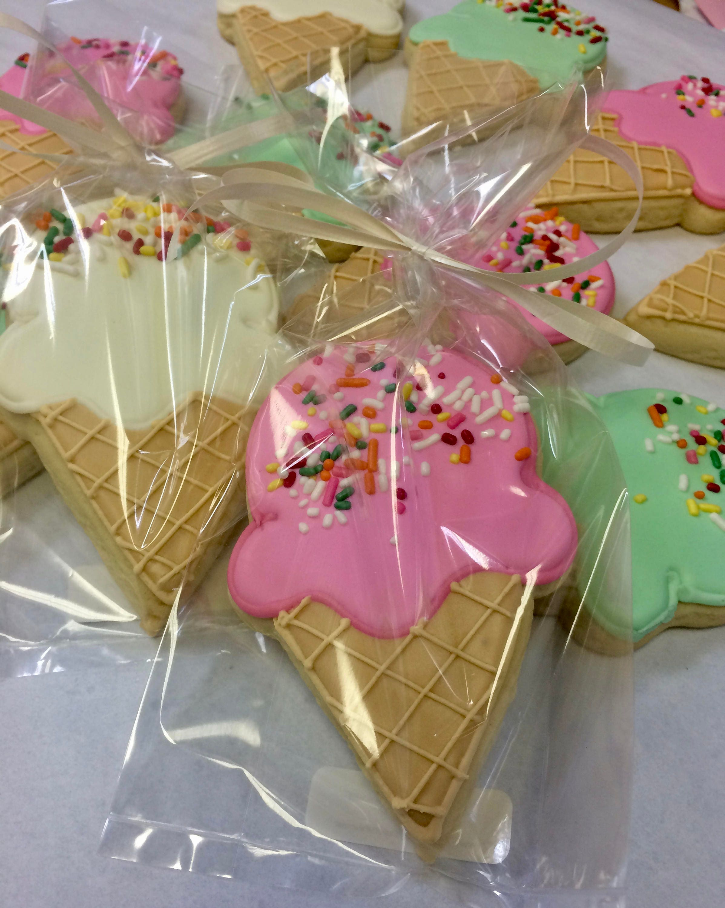 Ice Cream Cone Cookie Favors Beach Party Cookies Birthday