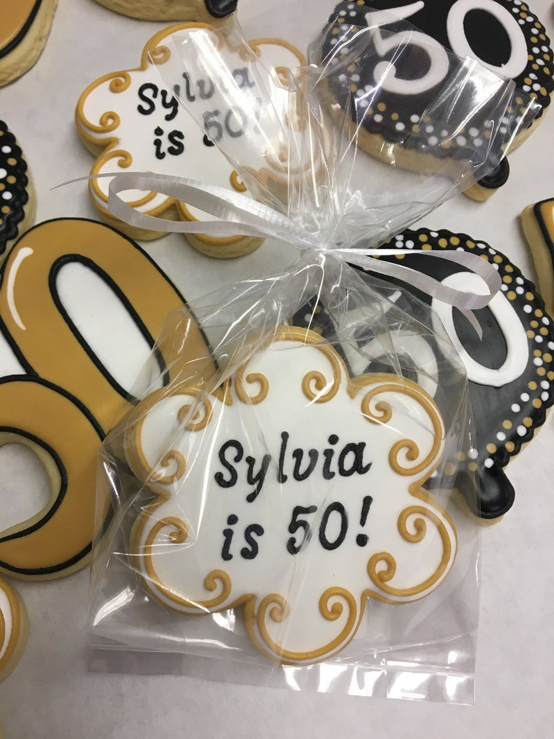 50th Birthday Party Favors Best Cookies For Any Age Gift Idea