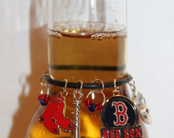 Boston Red Sox Beer Charm Red Sox Wine Charms Red Sox Charms Baseball Charms