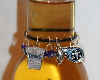 Tennessee Titans Beer Charm Titans Wine Charms Football Charms Tennessee Charms