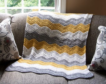 Laurel Creek Ripple Crochet Baby Blanket