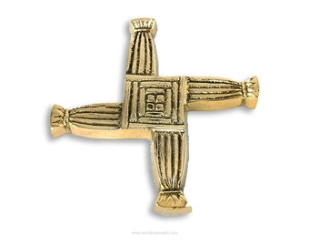 St. Brigid's Cross | Brass | Housewarming gift from Ireland