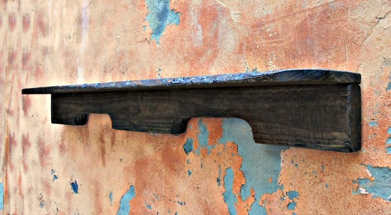 Wood Wall Shelf, Pallet Rail Shelf, Rustic Wall Shelf, 36