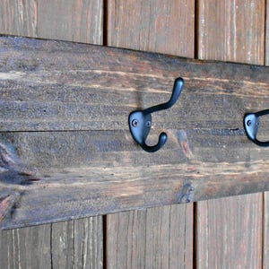 Oval Wall Coat Rack for coats pots utensils hats 4 hooks Rustic Wood Holder 24 and more from Upcycled Pallet wood