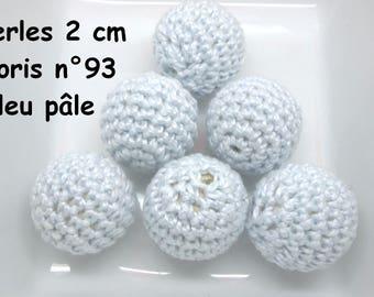 2 beads 20mm crochet color 93