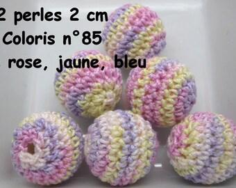 2 beads 20mm crochet 85 colors