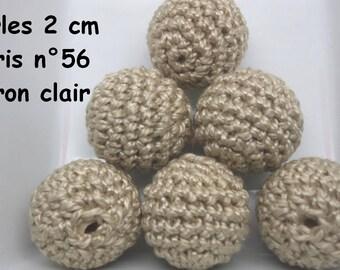 2 beads 20mm crochet 56 colors