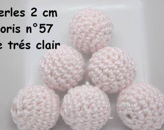 2 beads 20mm crochet color 57