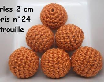 2 beads 20mm crochet 24 colors