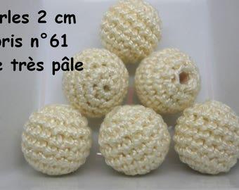 2 beads 20mm crochet 61 colours