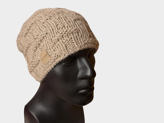 Mens Knit Hat Mens Beanie Beanie Hat Baby Alpaca Hat  eb483f4c365
