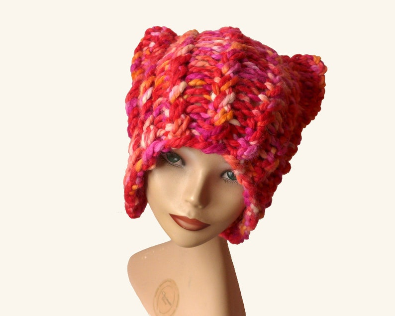 d1f6488c6ac Pink Pussycat Beanie Pink Pussy Hat Pink Beanie Gift for