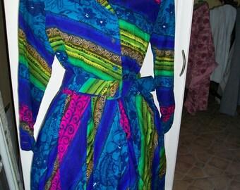 SALE  Vintage Dress Multicolors