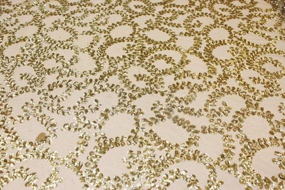 Tissu de designer sequin dentelle, sequin tissu dentelle Elegent, belle sequin dentelle, lourd 1b1b6f