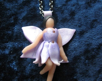 """Polymer Clay Flower Faerie on Chain - """"Anthea"""""""