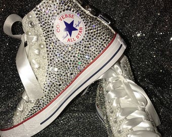 Adult Bling Chuck Taylor Shoes, Bling Shoes, Rhinestone Chuck Taylor,  Birthday Shoes, Wedding Shoes