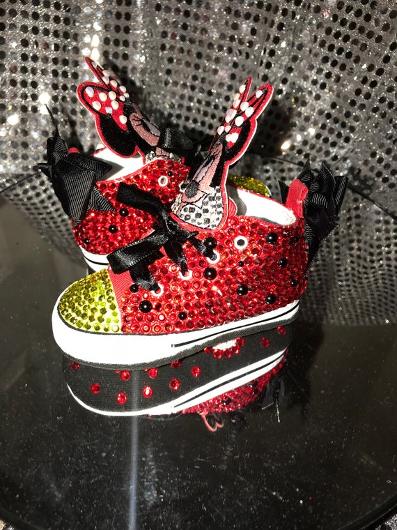 Minnie Mouse Newborn Bling Chuck Taylor Shoes Bling Shoes  ca3556954ef2