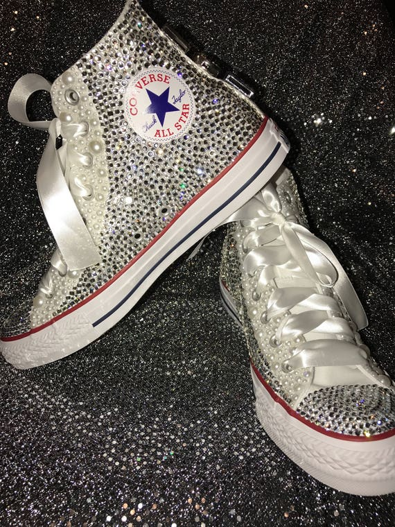 Adult Bling Chuck Taylor Shoes Bling Shoes Rhinestone Chuck | Etsy