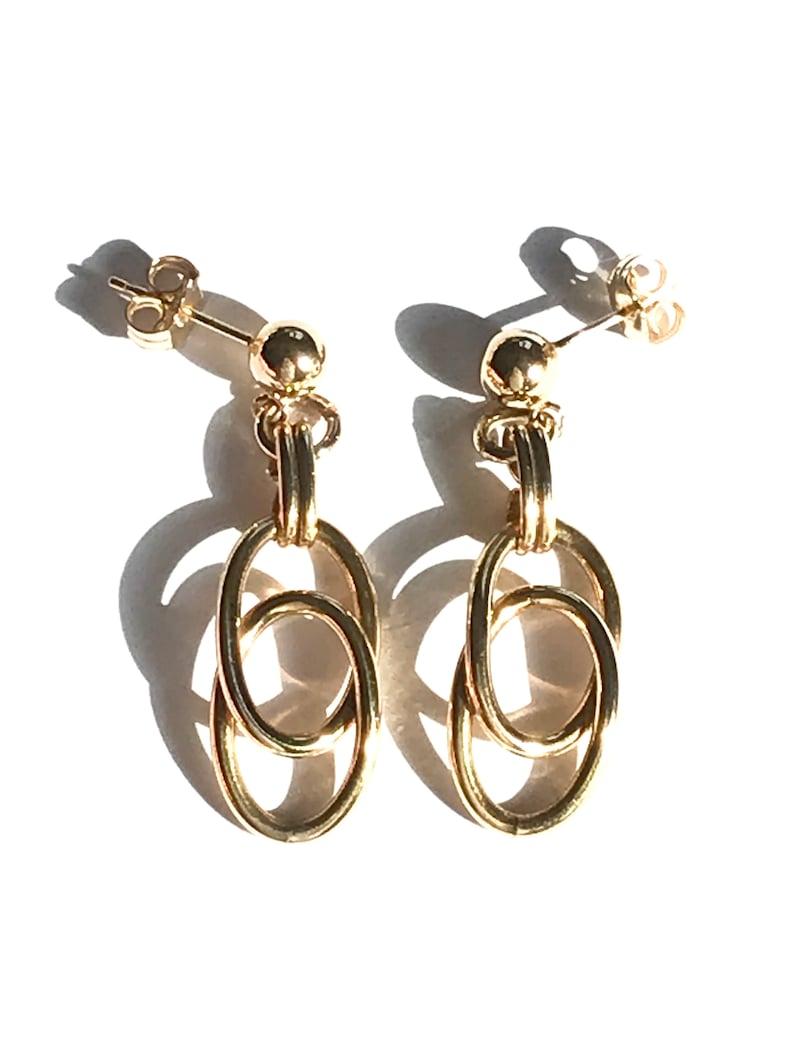 Vintage Double Loop Bracelet Gold Filled