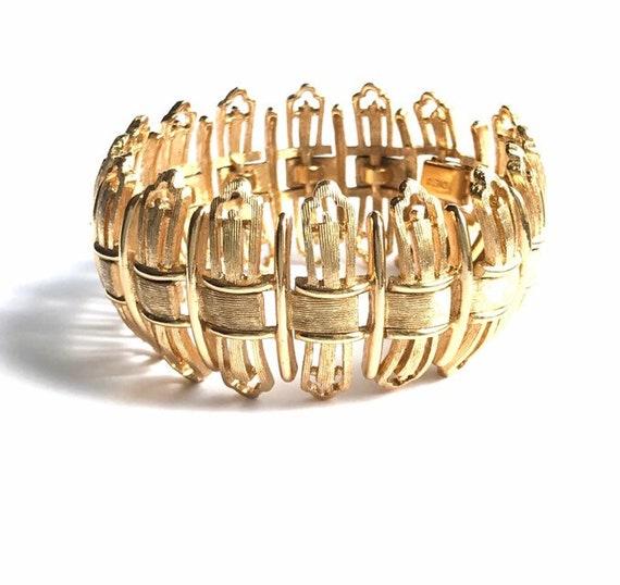 Vintage MONET Cuff Bracelet, Costume Jewelry