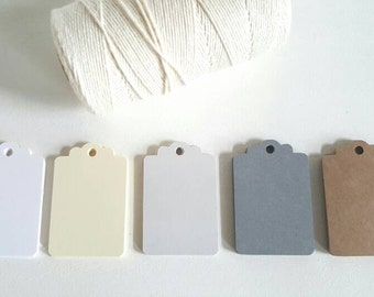 Paper Tags with Bakers Twine- Favor Tags - Drink Tags - Party Favor - Wedding Favor  - Party Drinks - Kraft Paper Tags - DIY Wedding Tags