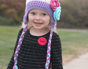 f803392aaa35a Items similar to Girls hat - toddler hat - child hat - trendy girls ...