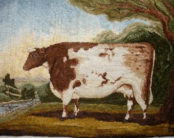 Durham Cow Rug Hooking Pattern