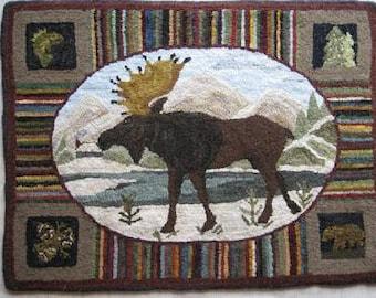 Moosehead Lake Rug Hooking Pattern