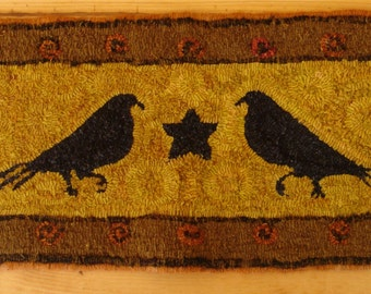 Two Old Crows Rug Hooking Pattern