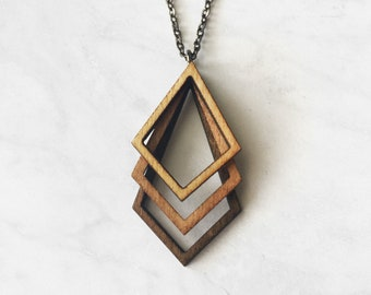Laser cut wood jewellery