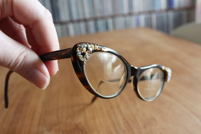 a8a4ae34ba 1950s Christian Dior Rare Vintage Cat Eye Sunglasses Made in