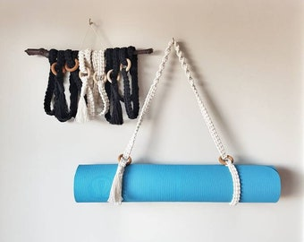 24103609dd Macrame Yoga Mat Strap   Yoga Mat Carrier   Blanket Carrier   Boho Accessory
