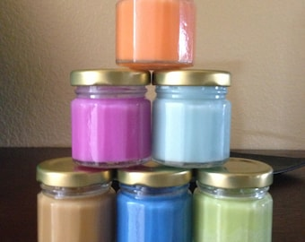60 pk 1.5 oz Jar soy Candles,  Choose your scents. The perfect Shower favor or gift.