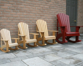 Adirondack Rocking Chair Plans Dwg Files For Cnc Machines Etsy