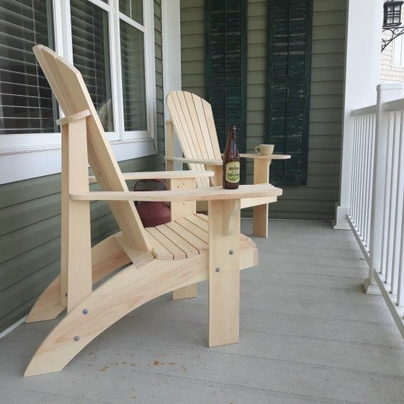 Adirondack Chair Kussens.Grandma Adirondack Chair Plans Dwg Files For Cnc Machines