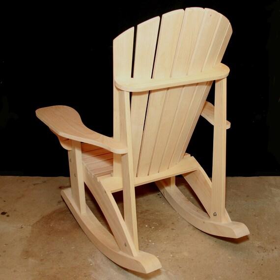 Adirondack Rocking Chair Plans Digital Cad Pdf Etsy