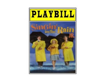 Theater / Show Charm - Playbill Play Bill - Singing in the Rain Jr.