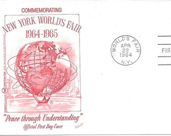 1964-65 NY World's Fair 1st Day Of Issue Commemorative Cachet Envelope Apr. 22, 1964