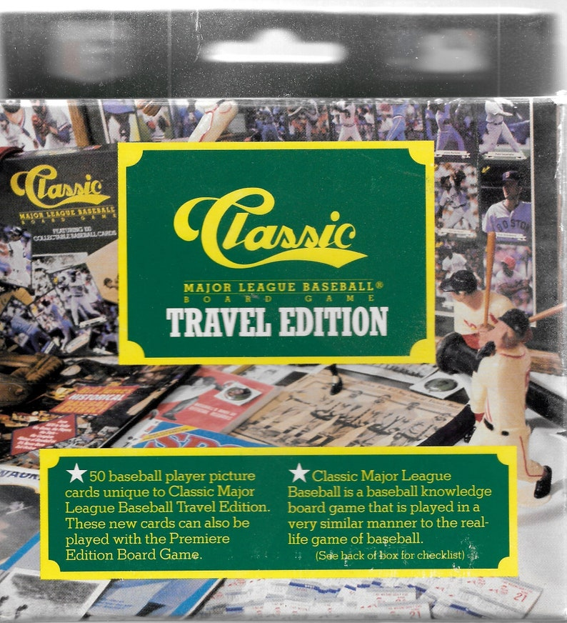 1989 Classic Baseball Cards Trivia Board Game Travel Edition Mint Condition Sealed Cardsfree Shipping