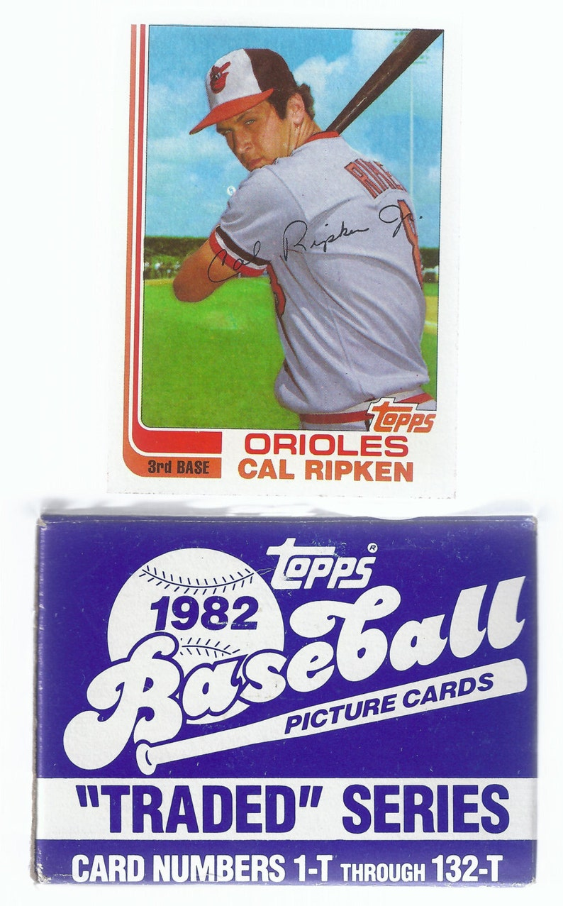 1982 Topps Baseball Card Traded Update Set Cal Ripken Jr Rookie Card Best Offers Considered