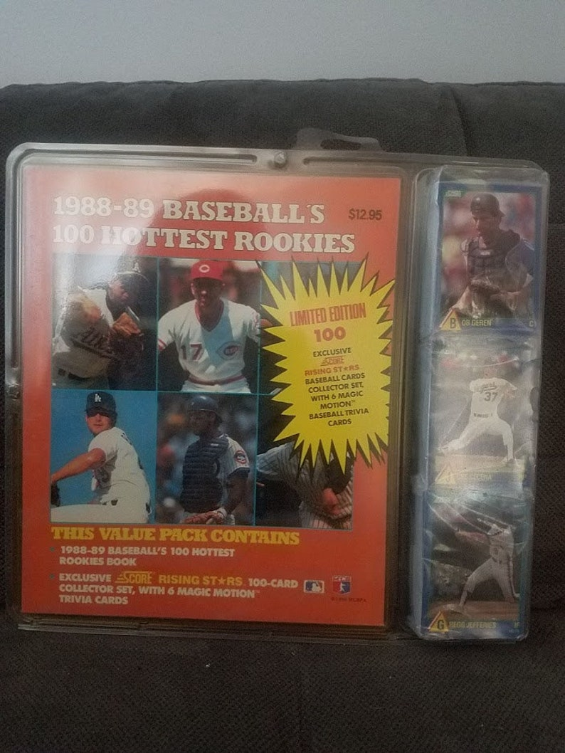 198889 Score Baseball Set Of 100 Hottest Rookies 6 Magic Motion Cards Babe Ruth Sealed
