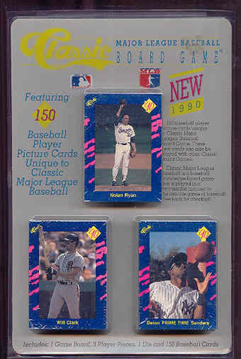 1987 Classic Baseball Cards Trivia Board Game And 1990 Classic Cards Travel Edition Very Nice