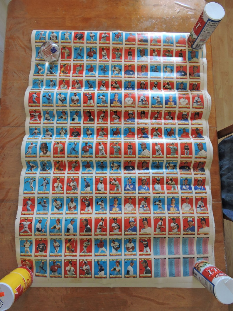 1988 Topps Baseball Card Uncut Sheets 2 Super Star Cards Stickers Best Offers