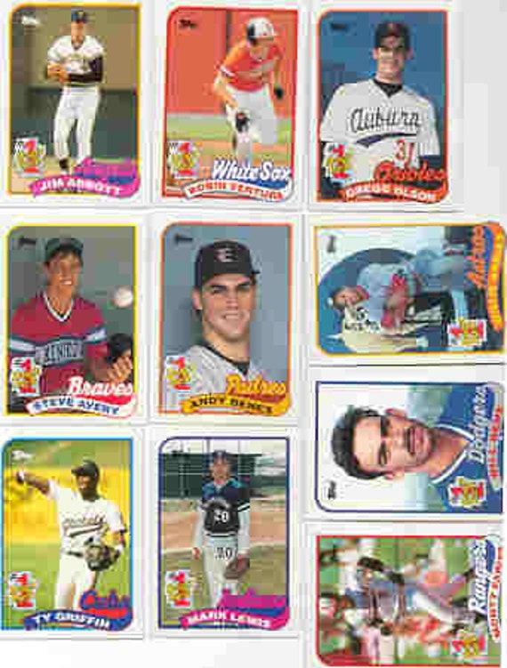 1989 Topps Baseball Card 1 Draft Pick Sub Set Mint In Plastic Case 4 Sets In Package Jim Abbott Robin Ventura