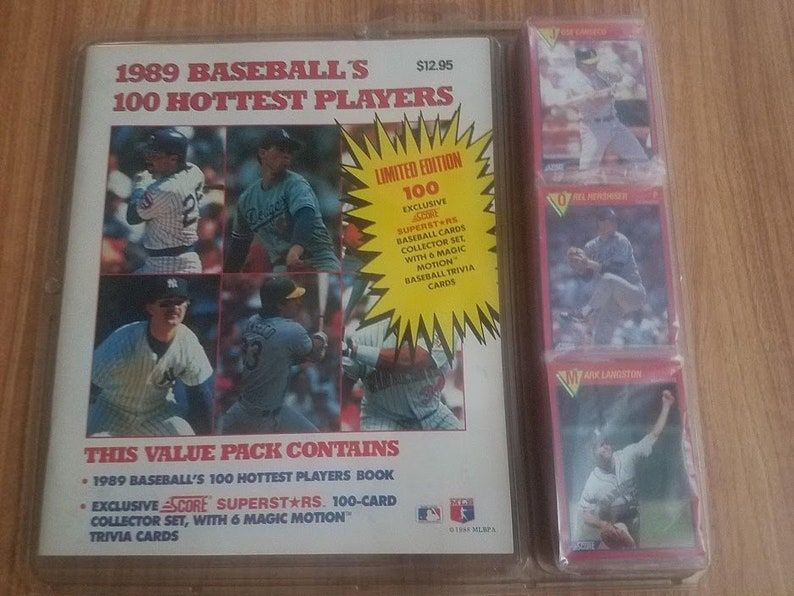 1989 Score Baseball 100 Hottest Stars Sealed And Unopened 6 Magic Motion Cards Joe Dimaggio Very Nice